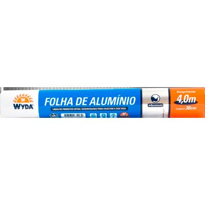 Papel Alumínio  30cm x 4m Wyda  UN