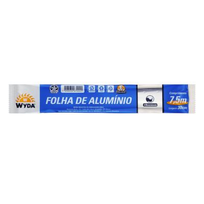 Papel Alumínio  30cm x 7,5m Wyda  UN