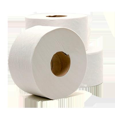 Papel Higiênico rolão folha simples, 100% celulose (8 unidades de 300 metros) Thorium fardo FD