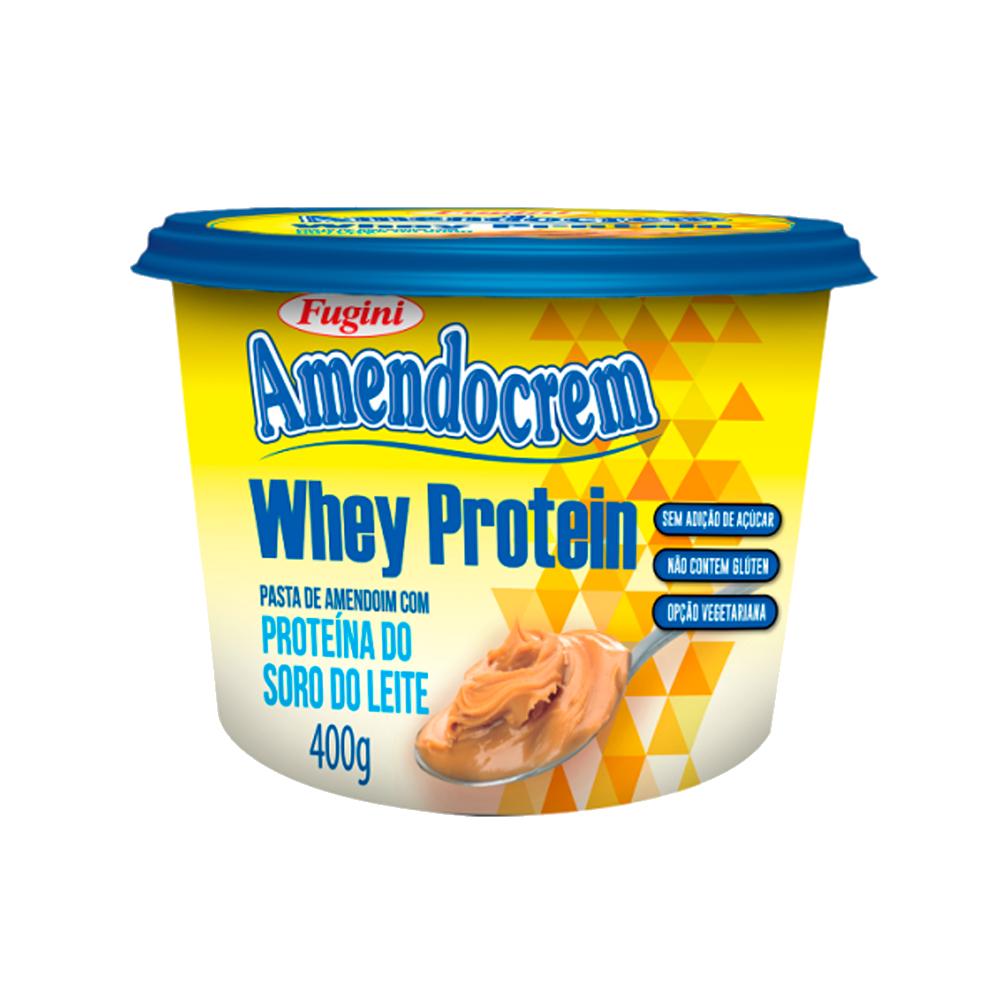Pasta de Amendoim Whey Protein 400g Fugini pote UN