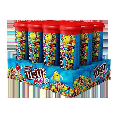 Pastilha de chocolate confeitadas (tubo) caixa 12 unidades MMS CX