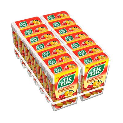 Pastilha sabor cereja maracuja caixa 14 unidades Tic Tac CX