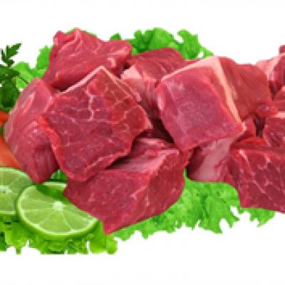 Patinho resfriado em cubos por Kg Chef Meat  KG