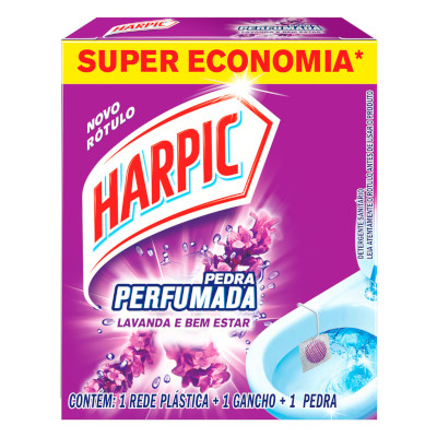 Pedra Sanitária aroma lavanda 40% desconto 20g Harpic  UN