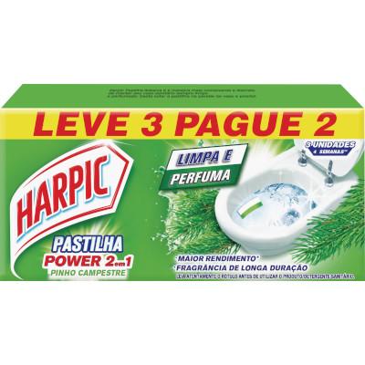 Pedra Sanitária aroma pinho caixa 03 unidades Harpic UN