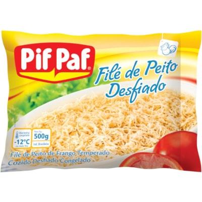 Peito de Frango desfiado e cozido por kg Pif Paf pacote KG