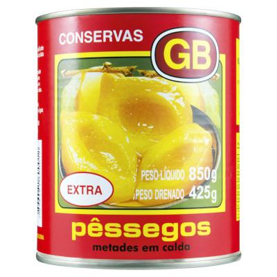 Pêssego em calda 425g GB Extra lata UN