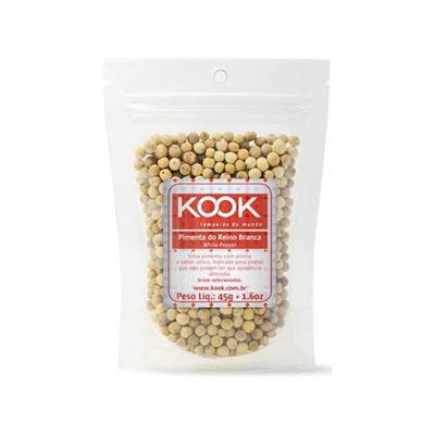 Pimenta do reino branca em pó pacote 45g Kook UN