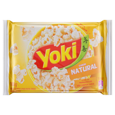 Pipoca de microondas sabor natural 100g Yoki pacote UN