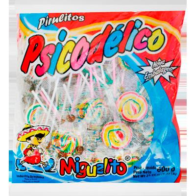 Pirulito psicodélico pacote 600g Miguelito UN