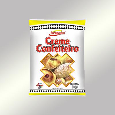 Pó para preparo de creme confeiteiro pacote 1kg Arcolor PCT