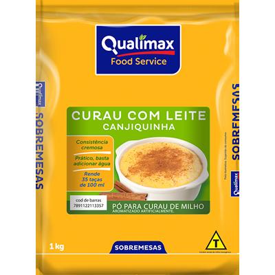 Pó para preparo de creme sabor curau com leite pacote 1kg Qualimax PCT