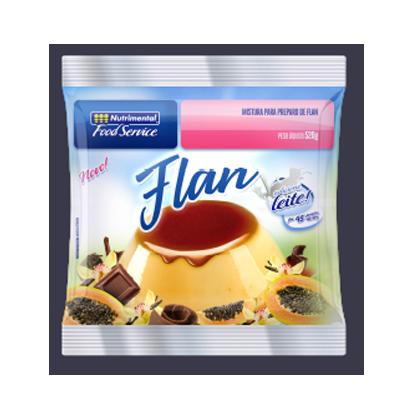 Pó para preparo de Flan sabor chocolate pacote 520g Nutrimental PCT