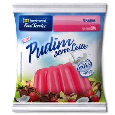 Pó para preparo de Pudim sabor chocolate sem leite 520g Nutrimental pacote PCT