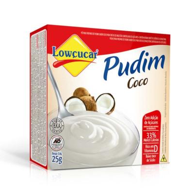 Pó para preparo de Pudim sabor coco diet caixa 25g Lowçucar UN