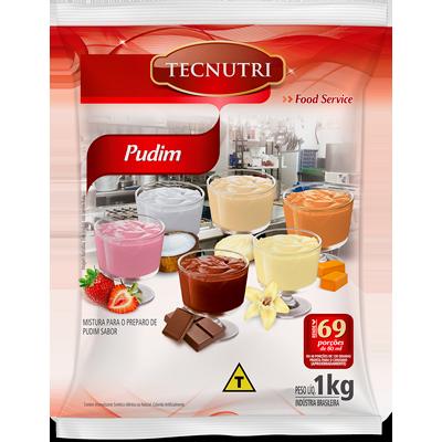 Pó para preparo de Pudim sabor coco sem leite 1kg Tecnutri pacote PCT