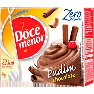 Pó para preparo de Pudim zero açúcar sabor chocolate caixa 25g Doce Menor UN