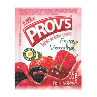 Pó para preparo de suco sabor frutas vermelhas caixa 15 unidades de 35g Provs CX
