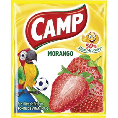 Pó para preparo de suco sabor morango 15g Camp pacote PCT