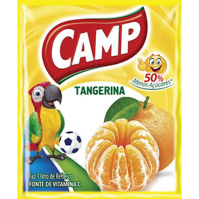 Pó para preparo de suco sabor tangerina 15g Camp pacote PCT