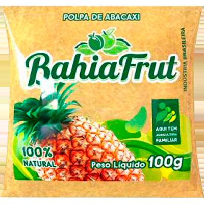 Polpa de abacaxi congelado 100g BahiaFrut  UN