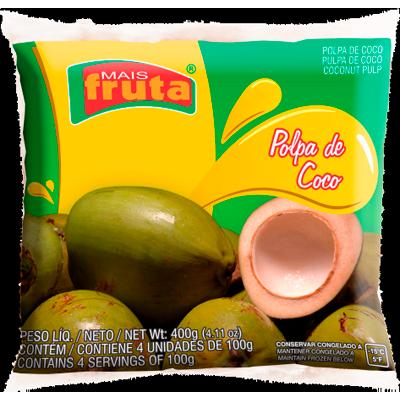 Polpa de coco congelado 100g Mais Fruta  UN