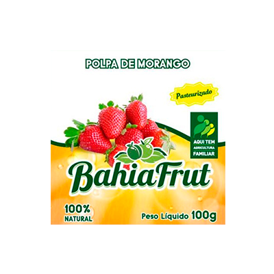 Polpa de morango congelado 100g BahiaFrut UN
