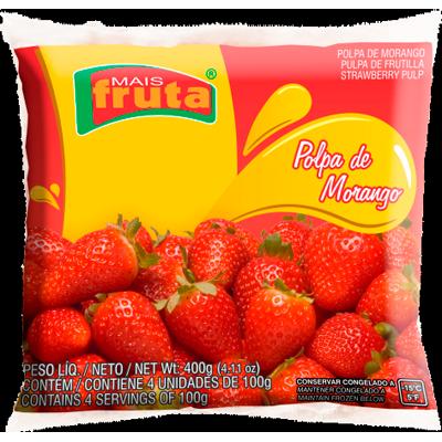 Polpa de morango congelado 100g Mais Fruta  UN