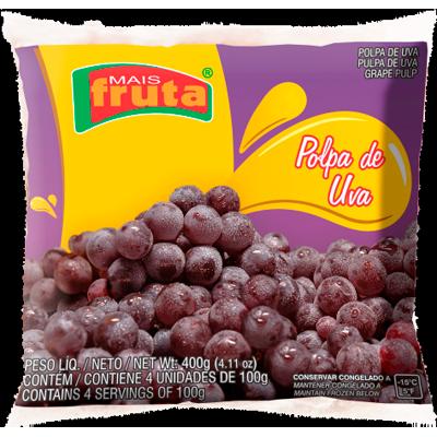 Polpa de uva congelado 100g Mais Fruta  UN