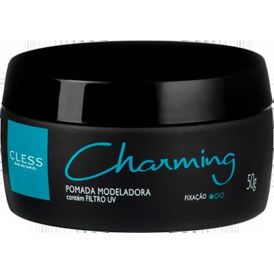 Pomada para Cabelo modeladora black 50g Charming UN