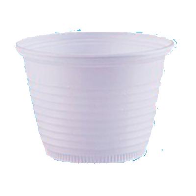 Pote descartável plástico branco 100ml 100 unidades Cristalcopo pacote UN