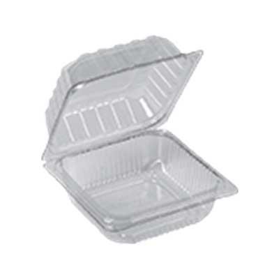 Pote descartável plástico quadrado com tampa articulada (BP641) 300 unidades Bipack caixa CX