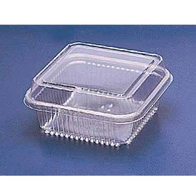 Pote descartável plástico quadrado G 650ml pacote 10 unidades Galvanotek UN