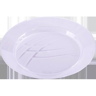 Prato descartável sobremesa cristal 10 unidades Prafesta pacote UN
