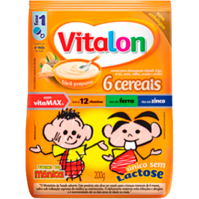 Preparo para Mingau sabor 6 Cereais 200g Vitalon pacote UN