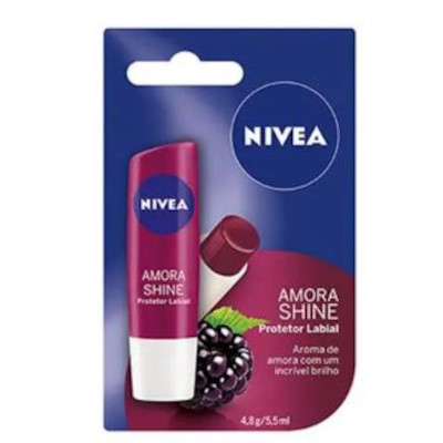 Protetor Labial care fruity shine amora 4,8g Nivea  UN
