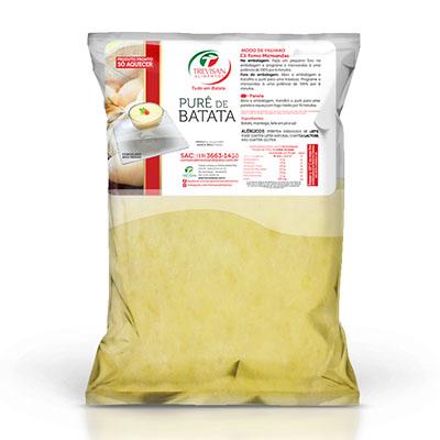 Purê de Batata pronto congelado por kg Trevisan pacote KG
