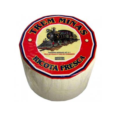 Queijo Ricota fresca por Kg Trem Minas (peça de 500g) KG