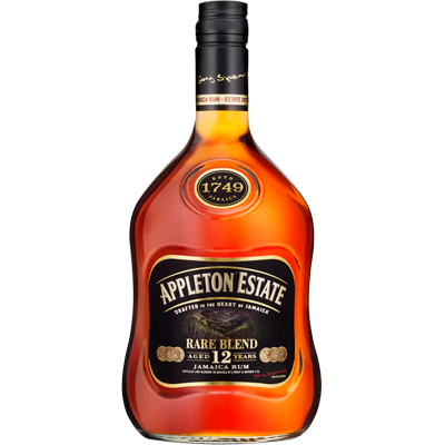 Rum Jamaica 12 anos Rare Blend 700ml Appleton Estate garrafa UN