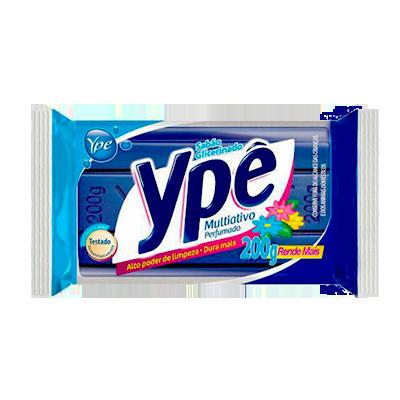 Sabão em barra glicerinado multiativo azul 200g Ype  UN