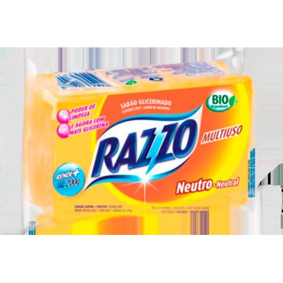 Sabão em barra glicerinado neutro 200g Razzo  UN