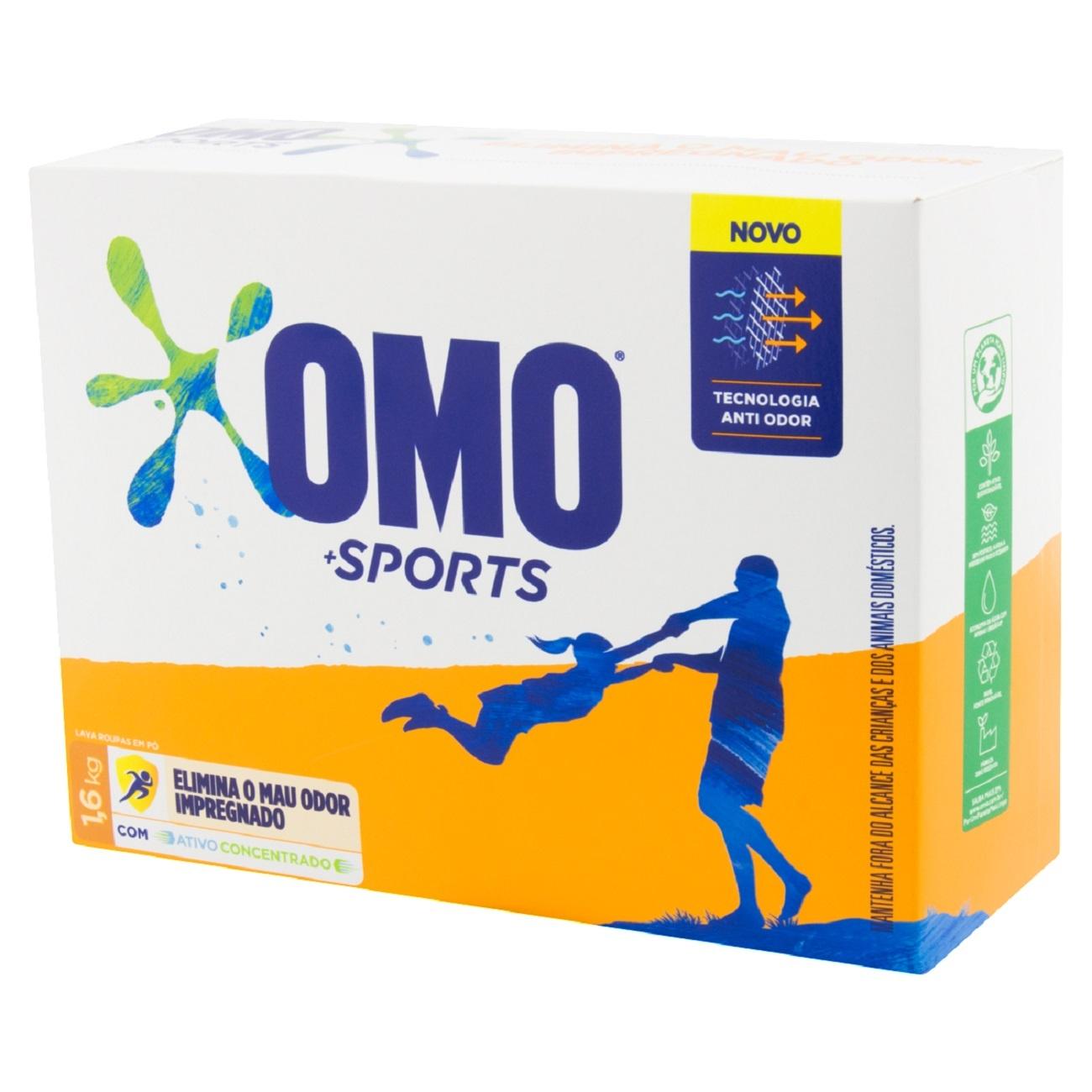 Lava-Roupas em pó Sports 1,6kg Omo  UN