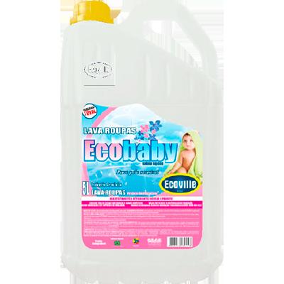 Lava-Roupas Líquido Cheirinho de Bebê 5Litros Ecoville galão GL