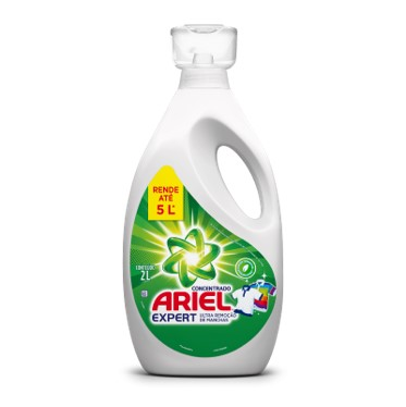 Lava-Roupas Líquido Concentrado Expert 2Litros Ariel frasco FR