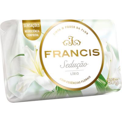 Sabonete em barra branco 85g Francis  UN