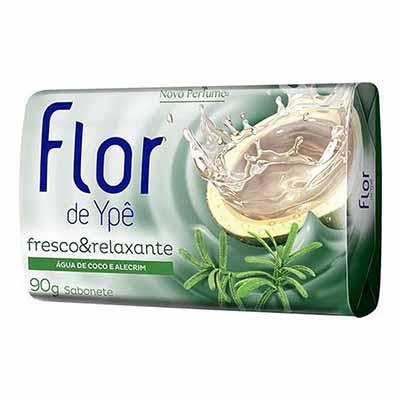 Sabonete em barra fresco e relaxante 90g Flor de Ypê unidade UN