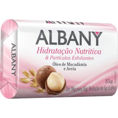 Sabonete em barra óleo de macadâmia e aveia 85g Albany  UN