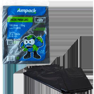Saco de lixo 30Litros preto 10 unidades MR Bio pacote PCT
