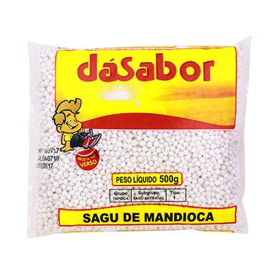 Sagu de mandioca 500g DáSabor pacote PCT
