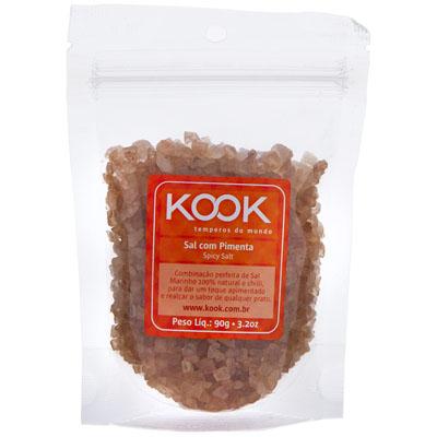 Sal com pimenta pacote 90g Kook UN